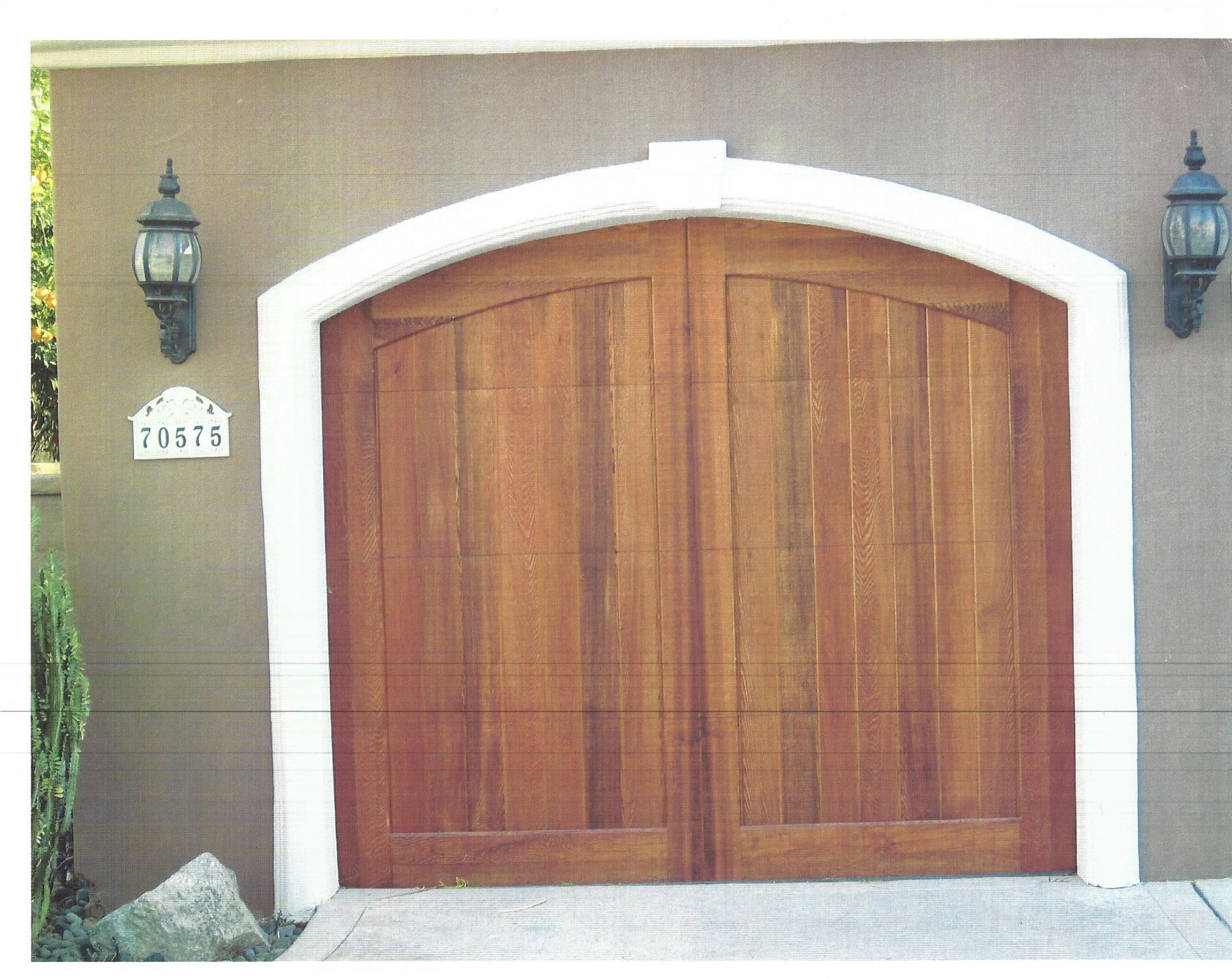 Arched Design On Arched Opening Garage Doors And Gates