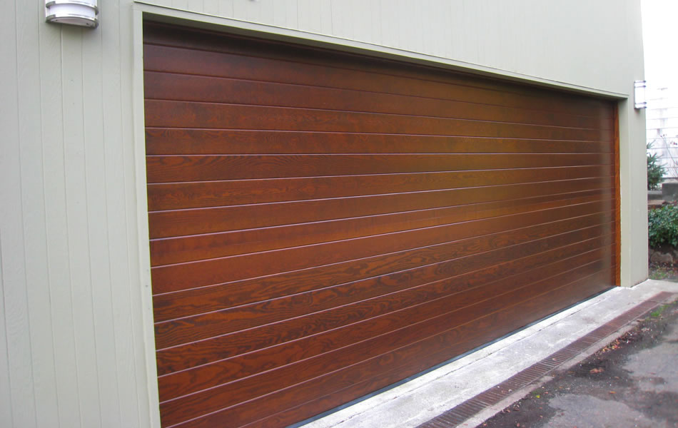 Contemporary Simple Horizontal Wood Garage Door In Indian Wells